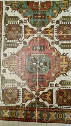 Chart Design, Cross Stitching, Cross Stitch Patterns, Embroidery Designs, Bohemian Rug, Tapestry, Detail, Crafts, Kilims