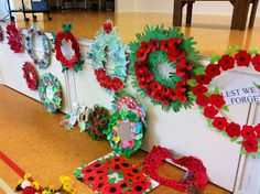 Thanks Rachel Boyd Kindergarten Art, Preschool Art, School Library Decor, Library Decorations, Remembrance Day Art, Classroom Crafts, Classroom Ideas, Classroom Resources, Poppy Wreath