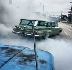 1960 Chevy station wagon: drops a gear to disappear. Rat Rods, Vintage Cars, Antique Cars, Dragon Wagon, Station Wagon Cars, Chevy Impala, Us Cars, Custom Cars, Cars And Motorcycles