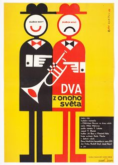 Minimalist movie poster for 60's Czech comedy with magical graphic design by Jan Kubíček. #minimalistposter #illustration #graphicdesign