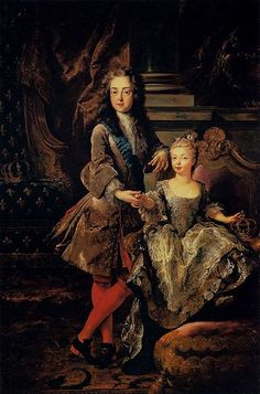"1723,Louis XV of France with his ""fiancée"" Mariana Victoria of Spain,François de Troy (1645-1730),oil,195х129cm,Pitti Palace, Galleria Palatina."