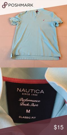 Men's Polo Nautica classic fit men's polo.  Excellent condition.  No rips, tears, or holes. Nautica Tops