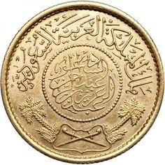 Moneda de oro 1 Guinea 1950 (AH 1370) Arabia Saudi. SC., Tienda Numismatica y Filatelia Lopez, compra venta de monedas oro y plata, sellos españa, accesorios Leuchtturm