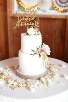 Soft Rustic Romance In Santa Barbara Los Olivos Ca Wedding Cake