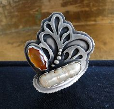 Exoskeleton ring Sterling silver handmade by louiseodwyerdesigns, $140.00