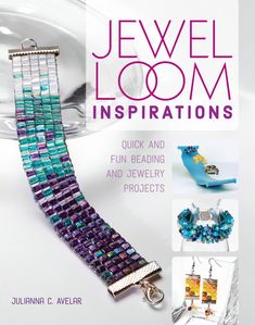 Easy and inspirational jewel loom beading projects with Julianna Avelar.
