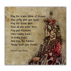 Fine Art Print of 'Cherokee Prayer Blessing'. Native American Indian Quote. Giclee print on museum quality paper. Jo Walsh Digital Art