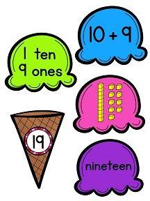 Place value ice cream cone building math center - SO MUCH FUN!!!