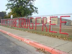 Elect to be drug free  Fence at Andersen Elementary School