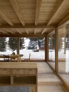 Jonathan Tuckey Design is one of the UK's leading advocates for remodelling and radically transforming old buildings for modern uses. Wood Architecture, Architecture Details, Exterior Design, Interior And Exterior, Andermatt, Wood Interiors, Wooden House, Glass House, House In The Woods