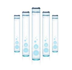 """Ô Water (Montreal) test tube water bottle, no neck or curves, specimen of """"purity"""""""