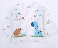 0-3M Baby Clothes set Newborn Boys Girls Soft Underwear Animal Print Shirt and Pants Cotton clothing 2