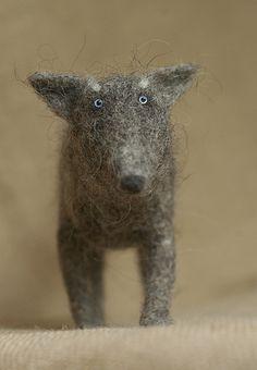 A Haggis dog - felted wool (Wolf by Vriad Lee)