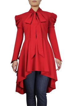 Red Victorian Romance Top from DRESS MAVEN BOUTIQUE Plus size fashion for women -- super adorable
