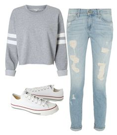 """Back To School Outfit"" by grace-hrabik on Polyvore featuring Converse"