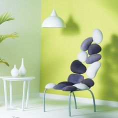 The Pebble #Chair, Inspired by nature, is very #organic & like #nature, has evolved rather than been #designed. By #sahilandsarthak. #interiordesign #designer #interiors #livingroom #bedroom #luxe #urban #earthy #trends