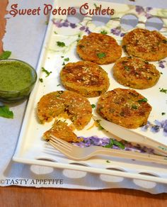 Tasty Appetite: Sweet Potato Cutlets / How to make Green Chutney for Chats / Step by Step