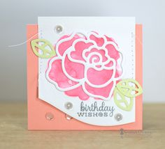 Card by SPARKS DT Savannah O'Gwynn PS stamp set: Lovely Thoughts; PS dies: Borders 1, Roses