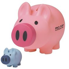 Promotional Payday Piggy Bank Item (Min Order: Customize your Coin Banks with your company logo and with no setup fees. The Promotional Payday Piggy Bank is decorated. Promotional Coin Banks are customized with your company logo for your branding needs.