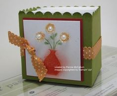 September 08, 2011 Stamping With Pennie:   Button Buddies Stampin' Up!, Fancy Favor Die