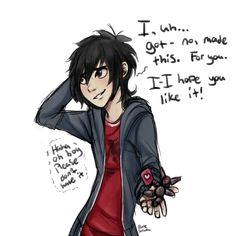 Silly Chicken Scratch — These nerds all have you covered with plenty of.<<<<<Hiro has a crush! Hiro Big Hero 6, Punk Disney Princesses, Hiro Hamada, Chicken Scratch, Disney Facts, Disney Movies, Fun Movies, Disney Characters, Disney And Dreamworks