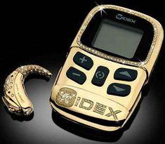 Opulent Medical Gadgets - Gold Hearing Aid, Bling Asthma Inhaler (GALLERY)