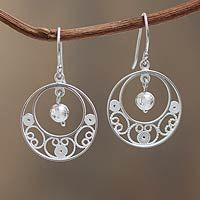 Sterling silver filigree earrings, 'Junin Glam' from @NOVICA, They help #artisans succeed worldwide.