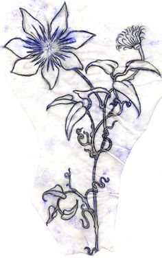 clematis tattoo transfer by Deborah-Valentine