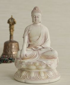 Buddha Statue In Earth Touching Pose, Bonded Stone