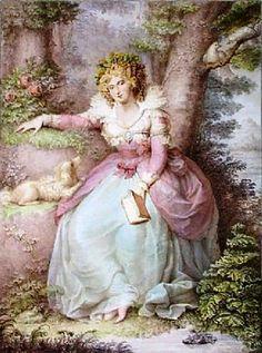 Sra. Fitzherbert, Richard Cosway (Inglaterra, 1742-1821) Gravura