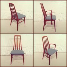 SOLD Here's a beautiful set of Kofod-Larsen designed Eva teak dining room chairs.