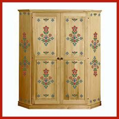 Rosemailing, Scandinavian stencils Swedish stenciled cupboard http://www.theartfulstencil.com/rosemaling.html