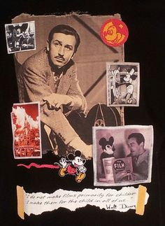 Disney Walt & Mickey T Shirt Sz XL Vintage Film History Archives Movies WDW USA #WaltDisney #Disneymovie $29.99