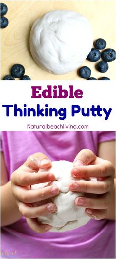 How to Make Edible Thinking Putty, Easy 2 Ingredient Recipe, Edible Sensory Play, Special Needs, Stress Reliever, Perfect for a fidgeter or anxiety, Love it