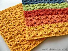 Crochet Cable Stitch Dishcloths