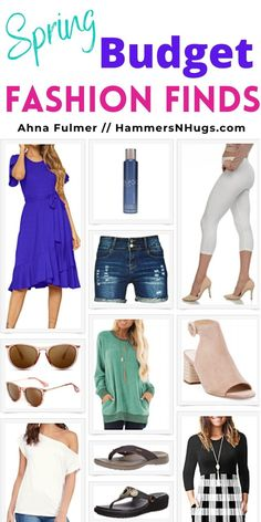 Budget spring fashion finds most of which are under $30! Tap on the pin for these spring fashion finds and more with Ahna Fulmer // HammersNHugs.com! #fashionfinds #fashionideas #springfashion #budgetfashion #budgetfashionstyle