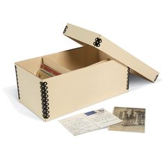 Arc document solutions paper printing binding strips blueprint keep your postcards clean safe and well organized in this gaylord archival light tan b flute postcard box it holds postcards up to 4 x with or without malvernweather Images