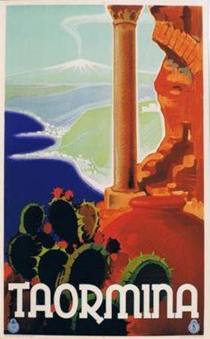 11933 Taormina, Sicily , Italian vintage travel poster