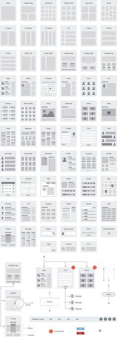 EMD Website Flowcharts for Illustrator – UX Kits: