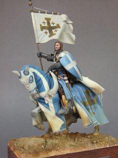 Kingdom of Jerusalem Caballería Medieval, Medieval Knight, Knights Hospitaller, Knights Templar, Kingdom Of Jerusalem, Saint Romain, Crusader Knight, Armadura Medieval, Landsknecht