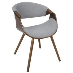 The Langley Street curvo chair proves retro never goes out of style. The refreshing profile provides an open airy look while the curved wood accents and woven fabric upholstery add a modern flair.The curvo chair will add interest to any living space.