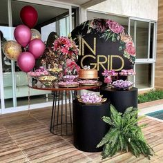 Birthday Table Design Party Themes 30 Ideas For 2019 Birthday Table, 50th Birthday Party, Birthday Party Decorations, Party Themes, Wedding Decorations, Ideas Party, Deco Ballon, Ladies Party, Balloon Decorations
