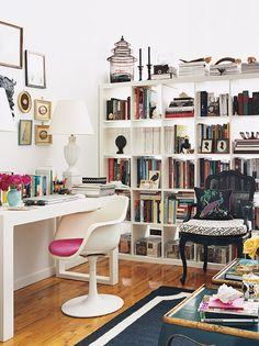 great idea for small space via Domino mag