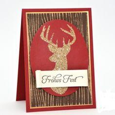 Woodgrain Textured Impressions, textura que imita la forma de la madera...en la presente tarjeta navideña realizada sobre cartulina cafe oscura, resaltada en sus relieve con tinta en color beige..atrevete a intentarlo!!!
