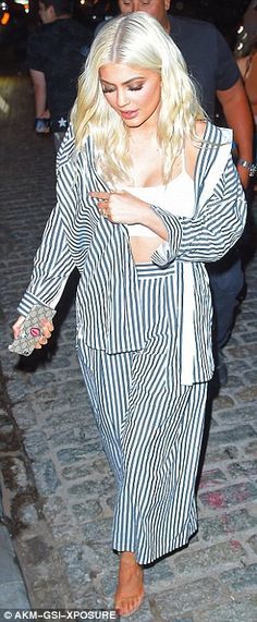 Style up some stripes this season like Kylie Jenner #DailyMail  Click 'Visit' to buy now