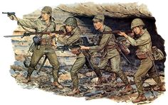 Imperial Japanese Army - Infantry at Iwo Jima, Japanese History, Modern History, Adolf Galland, Military Art, Military History, Battle Of Iwo Jima, Japanese Uniform, Ww2 History, Ancient History
