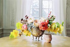 brass vase- not flowers