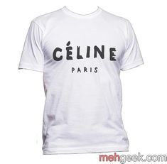 cd6d0e3d6580a Celine Paris Céline Paris Men T-shirt tee PA Crew Neck Sweatshirt