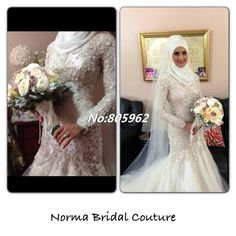 Find More Wedding Dresses Information about Lace High Neck Tulle Mermaid Wedding Dresses Beading A Line Long Sleeves Muslim Bridal Gowns 2014 Dubai Arab Wedding Dress G10,High Quality Wedding Dresses from Suzhou Romantic Wedding Dress Co. Ltd on Aliexpress.com