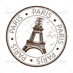 Buy Paris Stamp, Seal by on GraphicRiver. Stamp of Paris Eiffel tower with scratched effect. The file is vector. Travel Stamp, Etiquette Vintage, Passport Stamps, Clip Art, Aesthetic Stickers, Custom Stamps, Tampons, Tour Eiffel, Vintage Travel